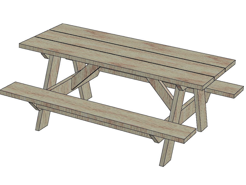 12 free picnic table plans - thebalance.com, Free picnic table plans ...